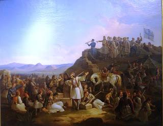 το έργο Το στρατόπεδο του Καραϊσκάκη του Θεόδωρου Βρυζάκη στην Εθνική Πινακοθήκη