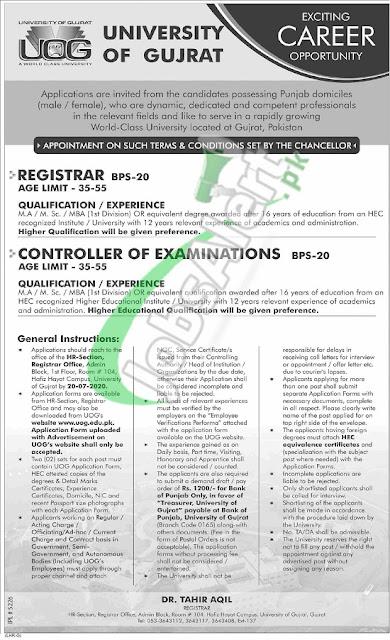 university-of-gujrat-uog-jobs-2020-application-form