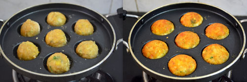 frying in paniyaram pan/appe pan