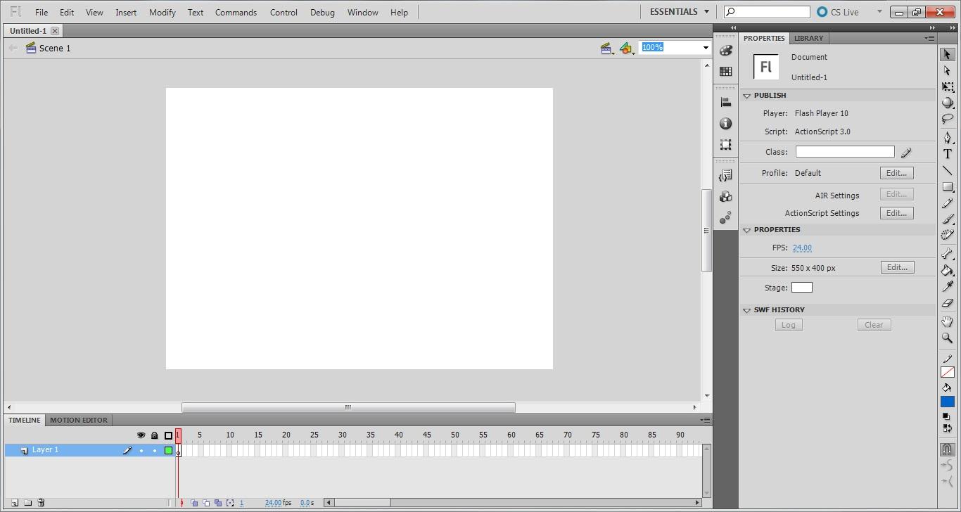 Adobe Flash Professional Cs5 5 - Free   -