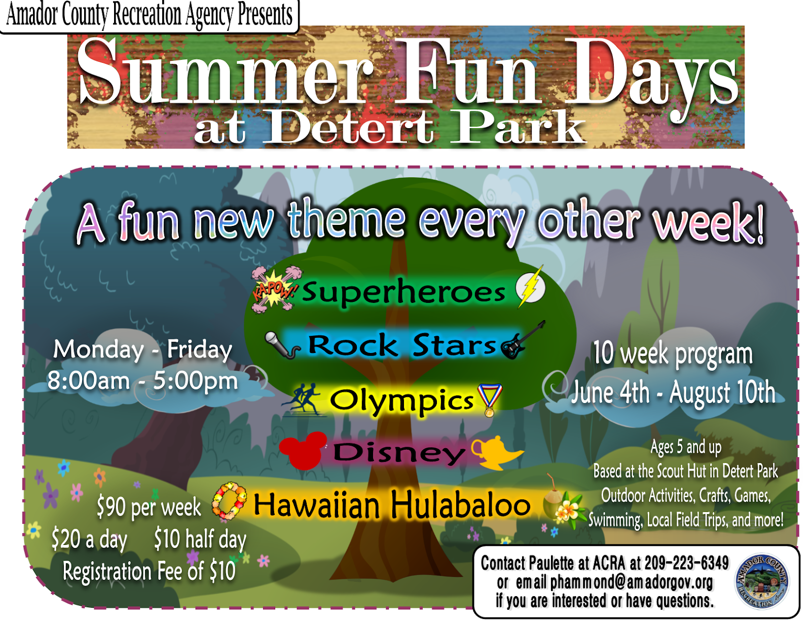 Summer Fun Days at Detert Park
