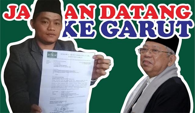Ma'ruf Amin Ditolak Datang ke Pondok Pesantren di Garut