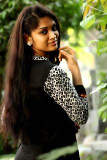 Priyanka Stills in Black Salwar Kameez at Kodai Mazhai Movie Interview
