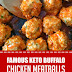 Famous Keto Buffalo Chicken Meatballs #keto #chickenmeatballs