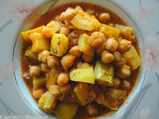 Nohutlu, Kabak, Yemeği, Tarifi, sebze yemekleri, yemek, kişniş otu