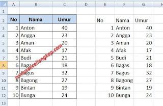 cara 5 menyalin data tabel excel