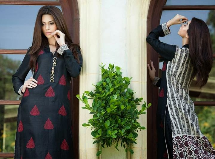 Gul Ahmed Semi Formal Wear Collection 2014 Fashion Galaxy