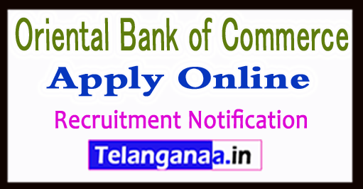 Oriental Bank of Commerce OBC Recruitment Notification 2017 Apply