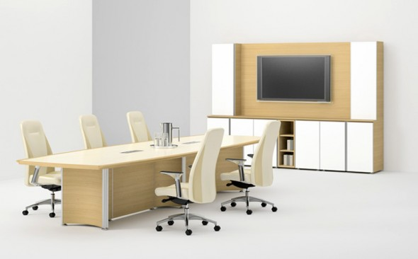 Office Furniture: Interior Design: Modern Minimalist Office Conference Room