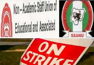 SSANU, NASU, NAAT to Embark on Indefinite Strike on Monday