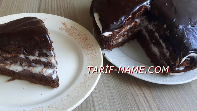 Çikolata soslu kakaolu yaş pasta tarifi, yaş pasta nasıl yapılır ?