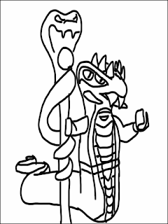 desenhos ninjago snake para colorir