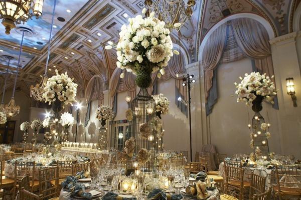 Las jaulas como elemento decorativo en las bodas - Foto: www.insideweddings.com