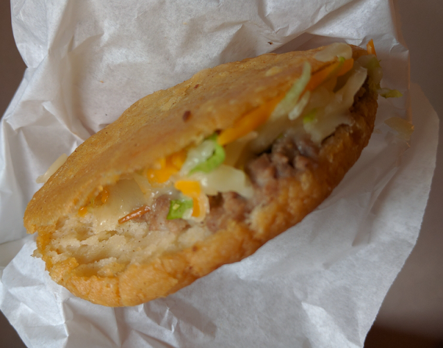 Daily Special gorditas at Saenz Gorditas in Las Cruces, New Mexico