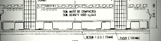 Pondasi pelat beton lajur sangat kuat