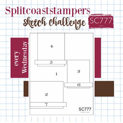 Splitcoaststampers Sketch Challenge 777