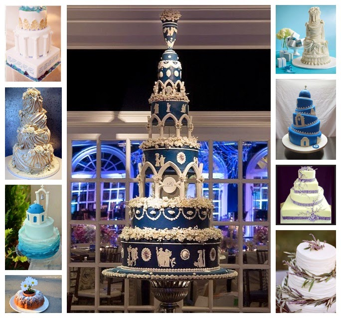 greek inspired wedding cakes wediquette and across the board wedding 14944