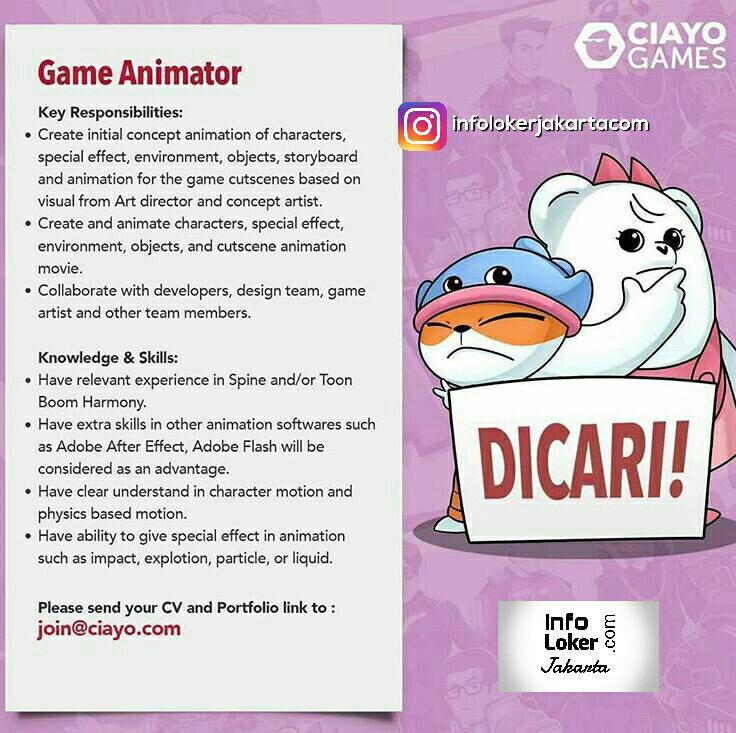 Lowongan Kerja Ciayo Games September 2017