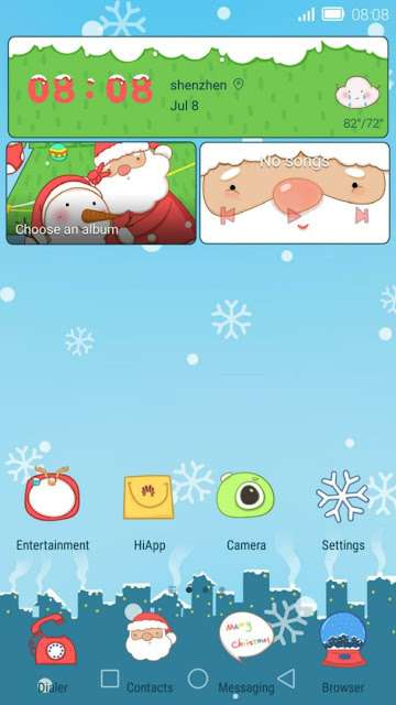 Christmas theme for EMUI 4