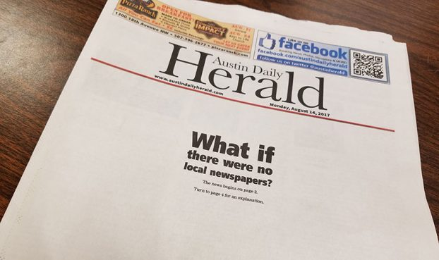 Minnesota Papers Highlight The Importance Of Local News By Publishing Editions With Blank Front Pages
