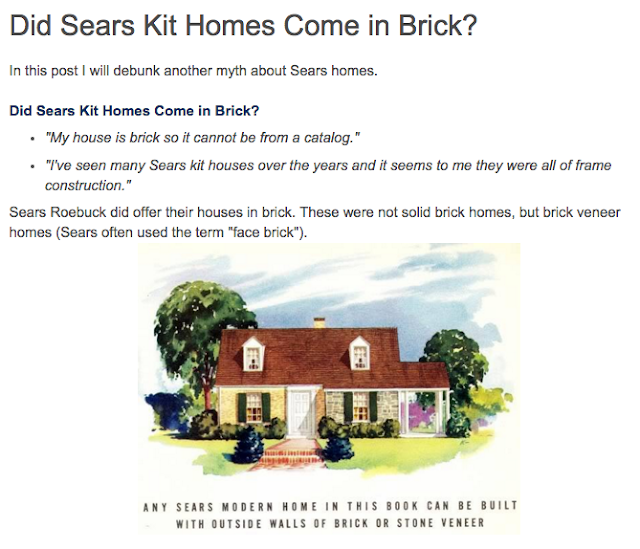 did sears kit homes come in brick