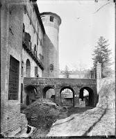 Il ponte sul fossato di Palazzo Madama