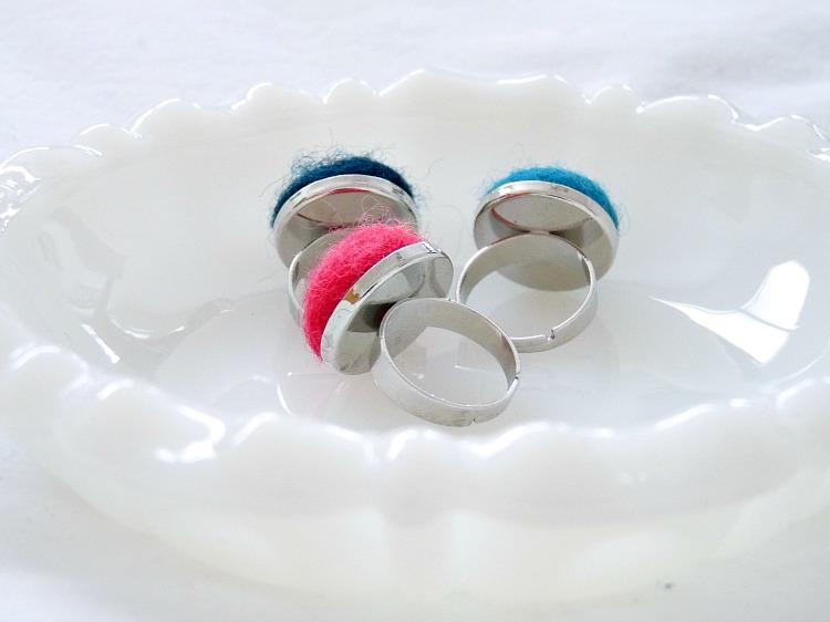 DIY Felted Wool Jewelry