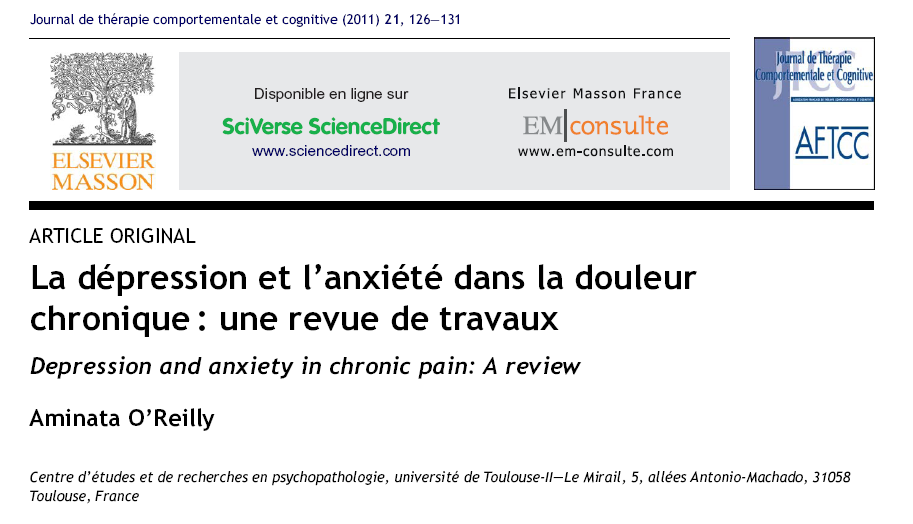 psychological therapies for the management of chronic pain in adults