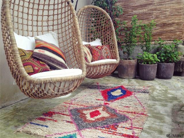 tapis boucherouite coussins kilim