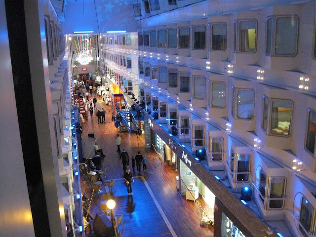 Shopping street Promanade on Silja Symphony