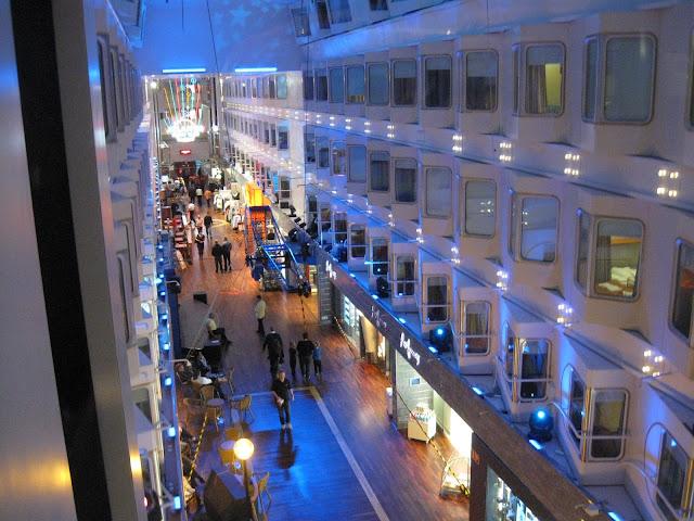 Shopping street Promanade on Silja Symphony