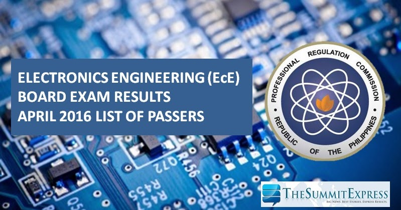 List Of Passers April 2016 Ece Ect Board Exam Results The