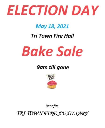 5-18 Tri Town Fire Dept. Bake Sale