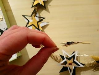 Bulles de Plume DIY couronne de Noël étoilé (inspiration Hygge)