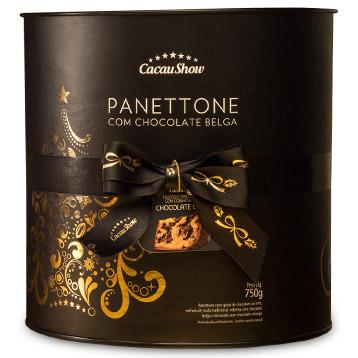 Cacau Show Natal 2016 panetone com chocolate belga