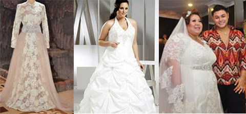model baju kebaya pengantin wanita gemuk