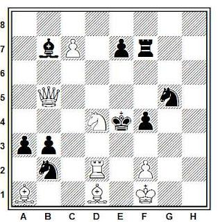 Problema de mate en 2 compuesto por Ján Valuska (Narodna Obroda 1993, 2º Premio)