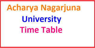 ANU Degree 2017 Time Table