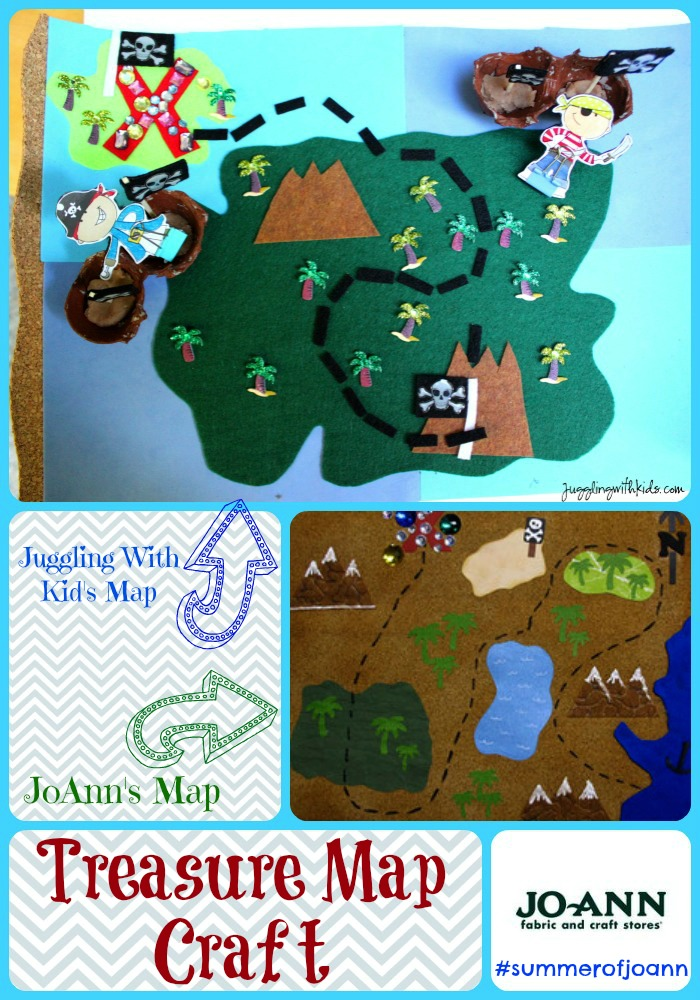Interactive Pirate Treasure Map #SummerofJoann – Juggling