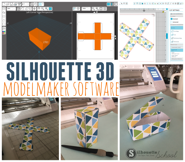 silhouette cameo, silhouette cameo 3d shapes, silhouette model maker, silhouette print and cut tutorials