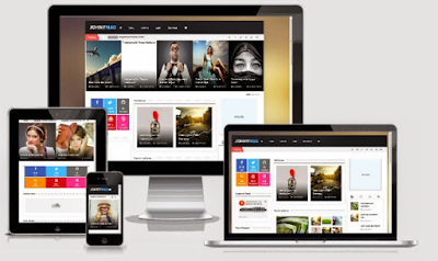 Free Download Johny Mag Responsive Blogger Template