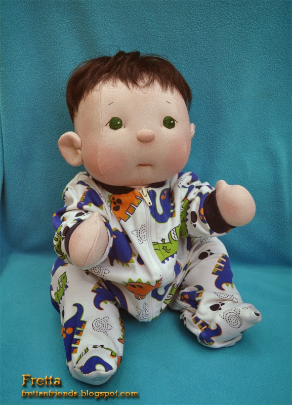 Fretta Fretta S Bebe Cheeks Boy Doll Fair Skin Green