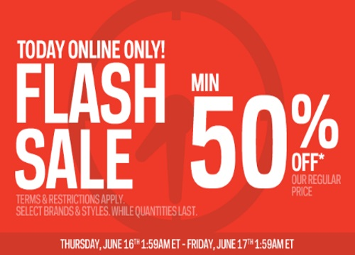 Sportchek Flash Sale 50% Off + Free Shipping