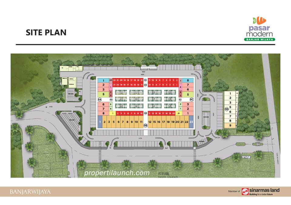 Siteplan Pasar Modern Banjar Wijaya