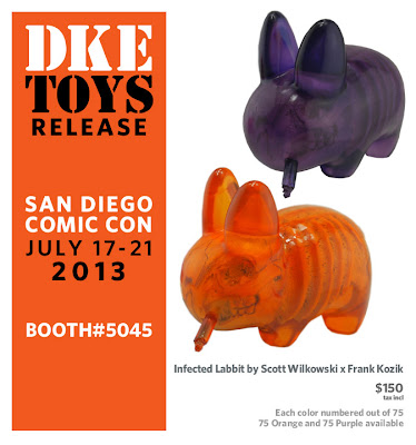 San Diego Comic-Con 2013 Exclusive Infected Labbit by Scott Wilkowski & Frank Kozik