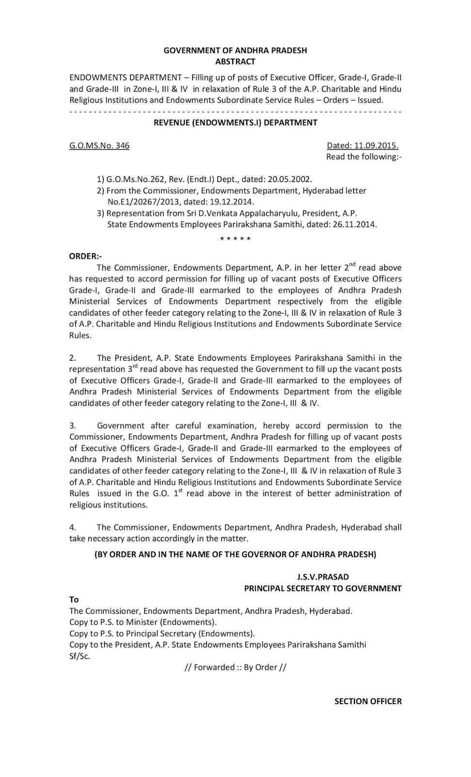 AP Endowments Department Gos and Circulars