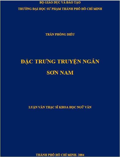 Đặc trưng truyện ngắn Sơn Nam
