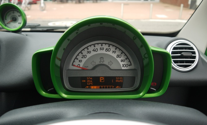 Smart ForTwo Electric Drive instrument panel