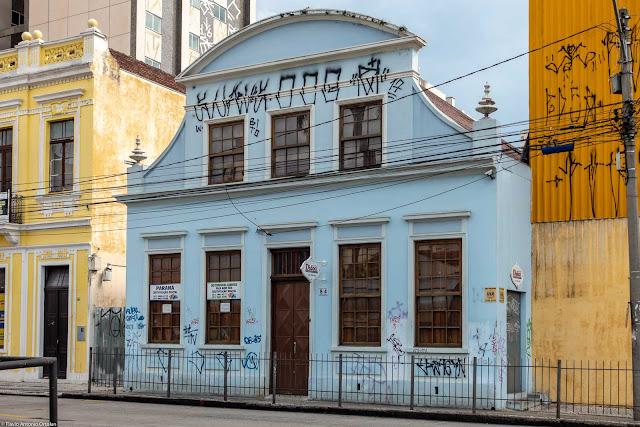 """Foto da casa que foi a sede do jornal """"Der Beobachter"""" em Curitiba"""