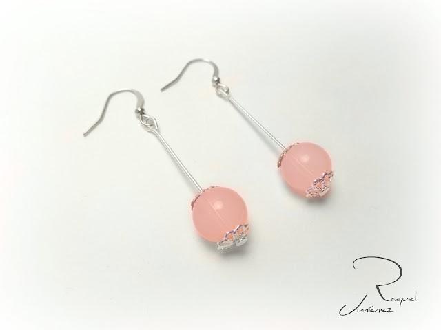 pendientes cuarzo rosa